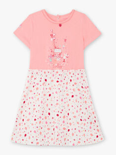 Chemise de nuit rose et blanche petite fille TEJIRETTE / 20E5PFE1CHN318