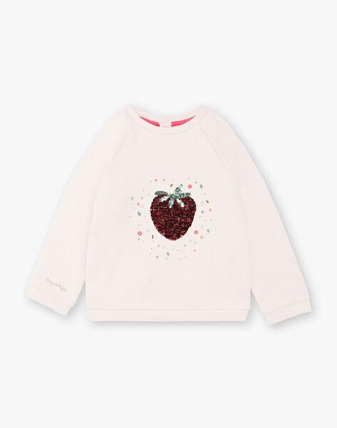 Sweat rose fraise sequins ZESWETTE 2 / 21E2PFJ1SWE301