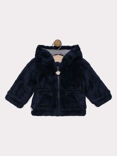 Veste en fourrure synthétique bébé garçon, doublé en jersey  SINEO / 19H1BG72VES713