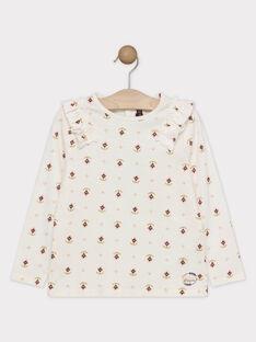 Tee-shirt imprimé écru fille SOKINETTE / 19H2PF62TML001