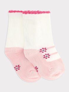 Chaussettes ecru bébé fille SAELVIRA / 19H4BF42SOQ001