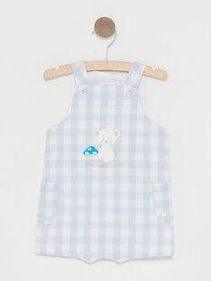 Salopette courte à carreaux bébé garçon  TUVOUKI / 20E0CGR2SAC213