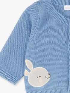 Cardigan bleu en tricot bébé garçon ZORANO / 21E0CGG1GILC203