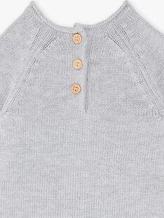 Pull gris chiné ludique ZACAJE / 21E1BG91PULJ920