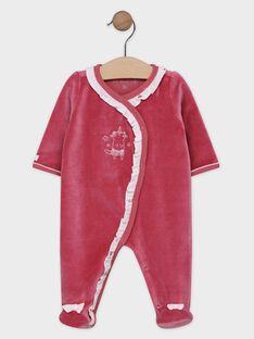 Dors bien vieux rose avec volants bébé fille SYALYNE / 19H0NF11GRE303