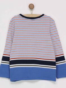 Tee shirt manches longues bleu marine PITROAGE / 18H3PGK1TMLC203