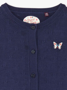 Cardigan bleu pin's papillon ZOCHINETTE / 21E2PFB1CAR216