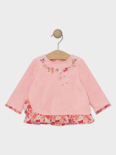 T-Shirt manches longues rose pâle bébé fille TABRIGITTE / 20E1BFB1TML307