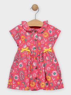 Robe rose fleurie bébé fille   TAIS / 20E1BFG1ROB302