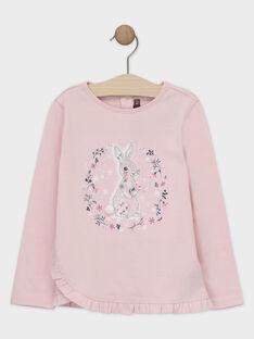 Tee-shirt fantaisie rose pastel animation fille SUIPRETTE / 19H2PFN2TMLD326