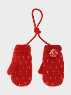Moufles rouge jacquard lurex fille SOIHYLETTE / 19H4PFI1GAN050