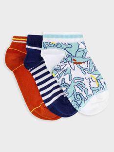 Lot de 3 paires de chaussettes basses petit garçon  TUSOCAGE / 20E4PG91LCB000
