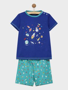 Pyjama bleu marine REFUSAGE / 19E5PGJ1PYJC204