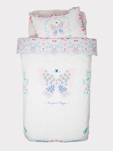 Drap / parure de lit blanc ROFLEURTR / 19EZENX1PLR001