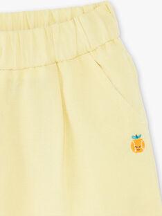 Pantalon jaune en toile  ZAMELVIN / 21E1BGO1PANB104
