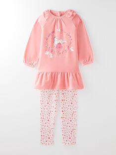 Pyjama rose petite fille  VEJOSETTE / 20H5PF31CHN404