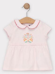 T-shirt rose pâle bébé fille  TASABRINA / 20E1BFQ1BRAD317