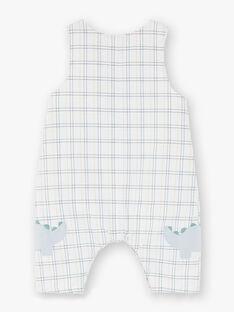 Ensemble salopette à carreaux, body et chaussettes bébé garçon ZOAKIM / 21E0CGG2ENS000