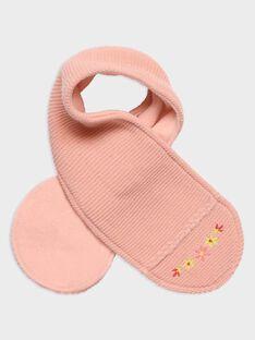 Écharpe rose point mousse bébé fille TABICHE / 20E4BFB1ECH307