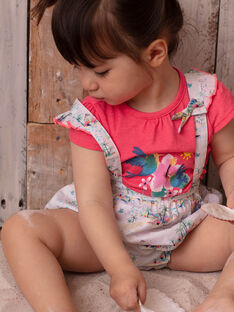 T-shirt rose bébé fille ZASTACY / 21E1BFU1TMCD311