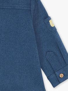 Chemise manches longues denim bleu moyen ZACONOR / 21E1BG91SCHP269