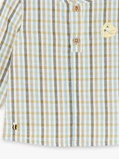 Chemise à carreaux jaune et gris   ZACOCO / 21E1BG91CHM001