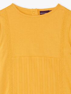 T-shirt manches longues ocre empiècement sur le devant ZETETTE 1 / 21E2PF92TMLB114