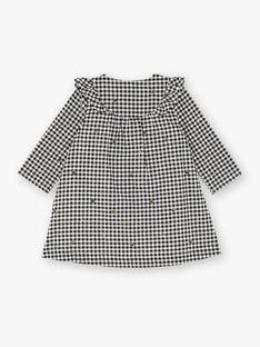 Robe manches longues à carreaux vichy noir et blanc ZADIANE / 21E1BF91ROB090