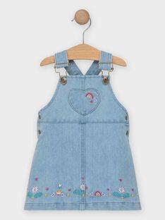 Robe salopette en jean bébé fille  TAILY / 20E1BFG1CHSP269