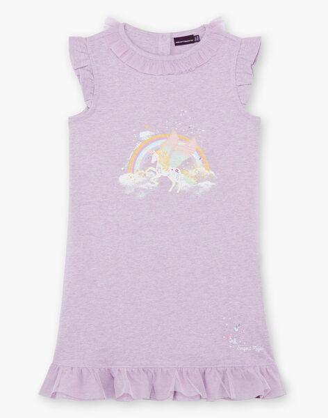 Chemise de nuit mauve licorne enfant fille ZELIKETTE / 21E5PF21CHN328