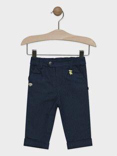 Pantalon pied de poule tricolore bébé garçon, doublé en jersey  SAMURPHY / 19H1BGC2PANG625