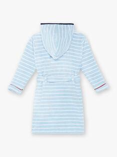 Peignoir rayé bleu et blanc en éponge  ZEPEIGNAGE / 21E5PG11PEIC218