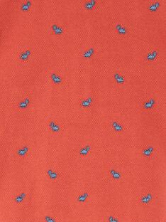 Polo rouge brique brodé ZAEDOU / 21E1BGB1POL506