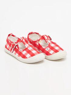 Chaussures vichy petite fille  TUMAETTE / 20E4PFH1CHT050
