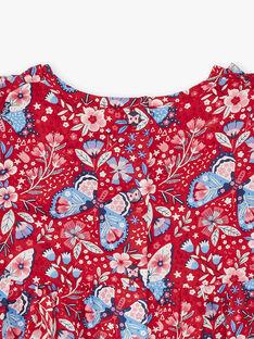 Robe imprimée en popeline ZAFANCHON / 21E1BFB1ROB050