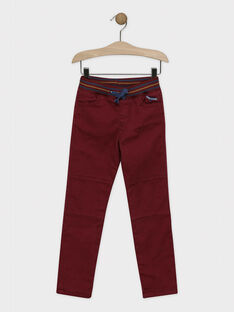 Pantalon bordeaux doublé en jersey garçon SEPANTAGE / 19H3PGI1PAN503
