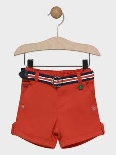 Bermuda rouge bébé garçon   TALAYME / 20E1BGH1BERF508