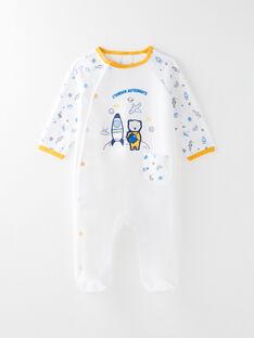 Grenouillère en velours bébé garçon  VELENNY / 20H5BG38GRE000