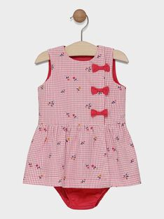 Baby girls' printed dress and bloomers SACOLINE / 19H1BF31CHS001