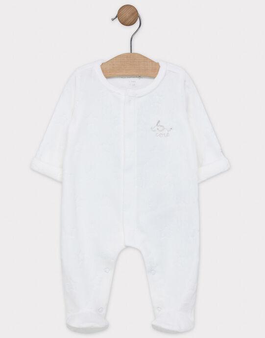 Dors bien en velours dévoré blanche bébé mixte SYAKIM / 19H0NM12GRE000