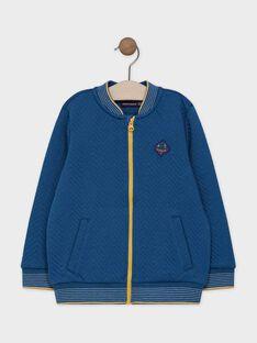 Navy, fancy knit, tubic JACKET. SACARDAGE / 19H3PG21GIL714