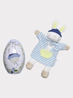 Œuf de Pâques Bébé garçon avec doudou THEO / 20E4BGU1JOU001