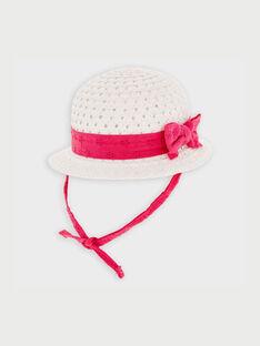 Chapeau blanc et rose RYCECILE / 19E4BFT1CHA001
