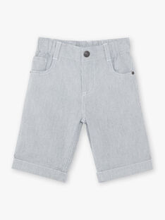 Bermuda gris enfant garçon ZUZTAGE2 / 21E3PGL4BERC228