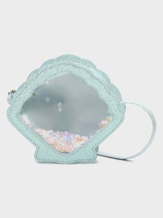 Sac coquillage turquoise petite fille TIPUETTE / 20E4PFD1BES202