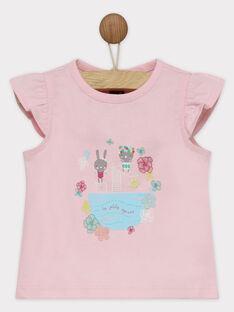 Tee shirt manches courtes rose RATALIA / 19E1BFP1TMC321