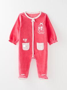 Dors bien en velours rose bébé fille VELISA / 20H5BF24GRE308