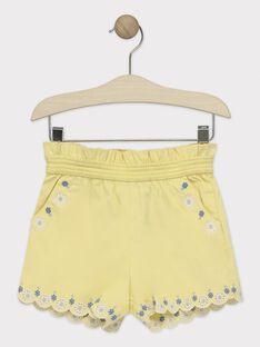 Short brodé jaune fille  TOITAETTE / 20E2PFO1SHO103