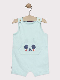 Combinaison courte bébé garçon bleu turquoise  TAPAPE / 20E1BGP1CBLC200