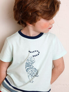 T-shirt vert imprimé tigre  ZAGRILAGE / 21E3PGI2TMC614